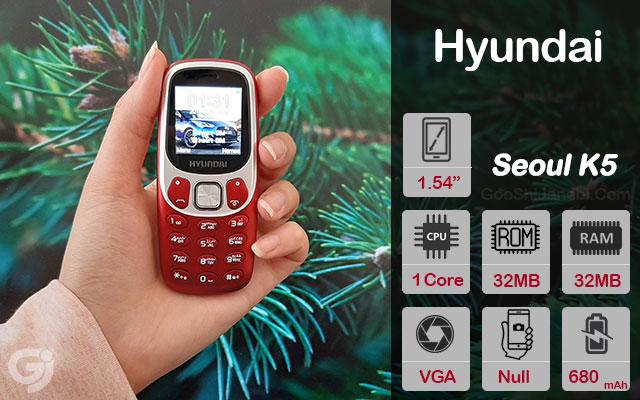 گوشی موبایل ساده هیوندای مدل Seoul K5 دو سیم کارت
