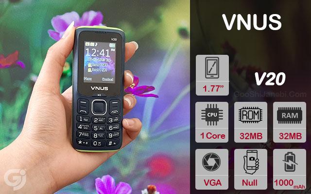 گوشی موبایل ساده ونوس مدل V20 با قابلیت تغییر صدا